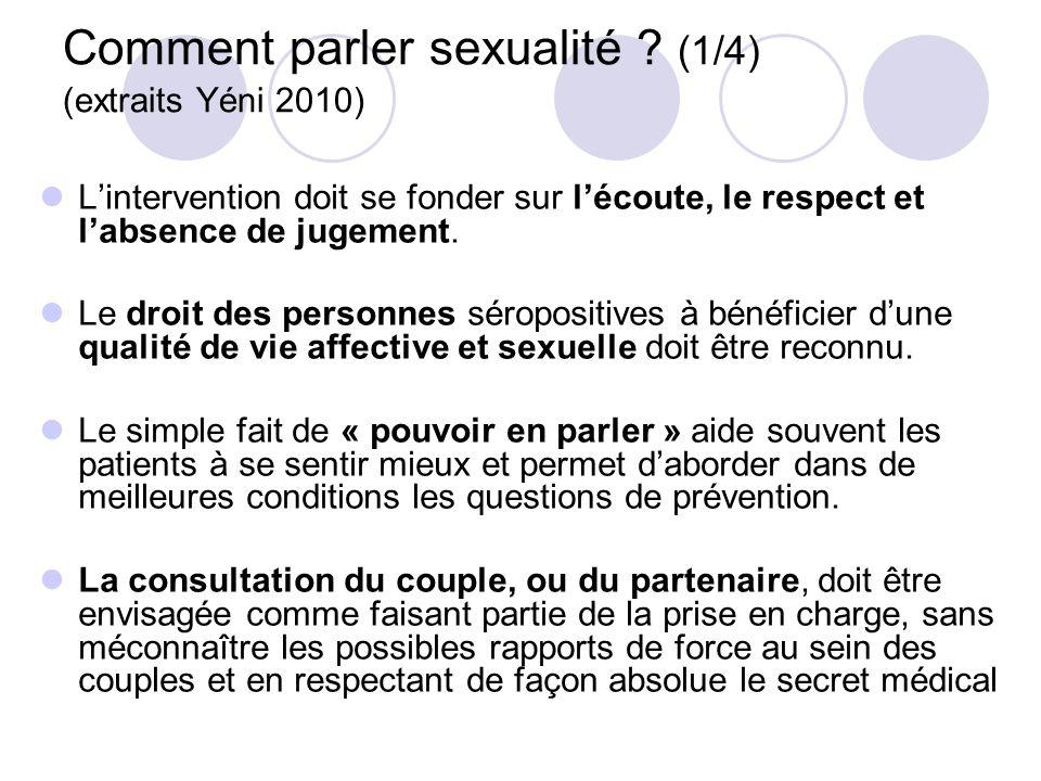 Comment parler sexualité (1/4) (extraits Yéni 2010)