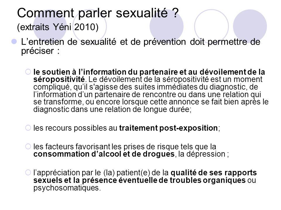 Comment parler sexualité (extraits Yéni 2010)