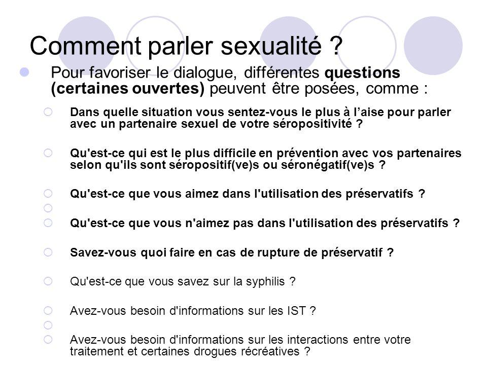 Comment parler sexualité