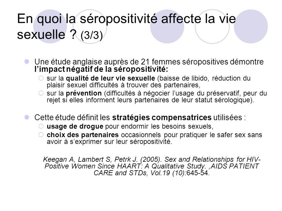 En quoi la séropositivité affecte la vie sexuelle (3/3)