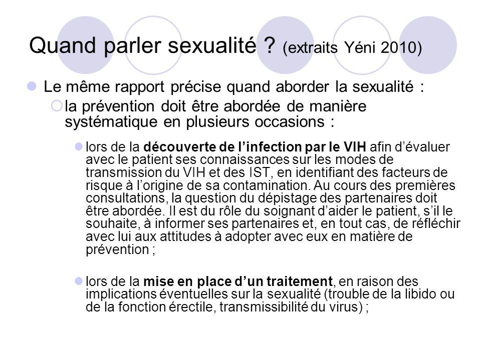 Quand parler sexualité (extraits Yéni 2010)