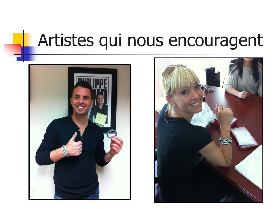 Artistes qui nous encouragent