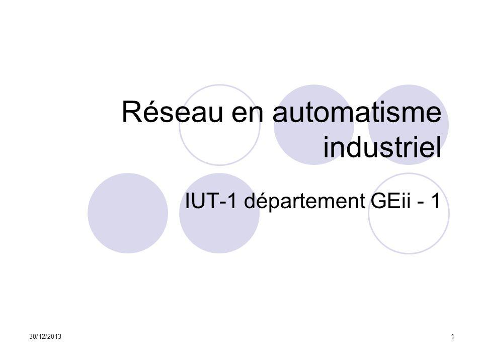 Réseau en automatisme industriel