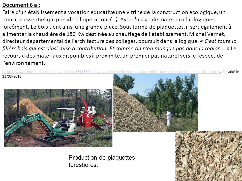 Production de plaquettes forestières.