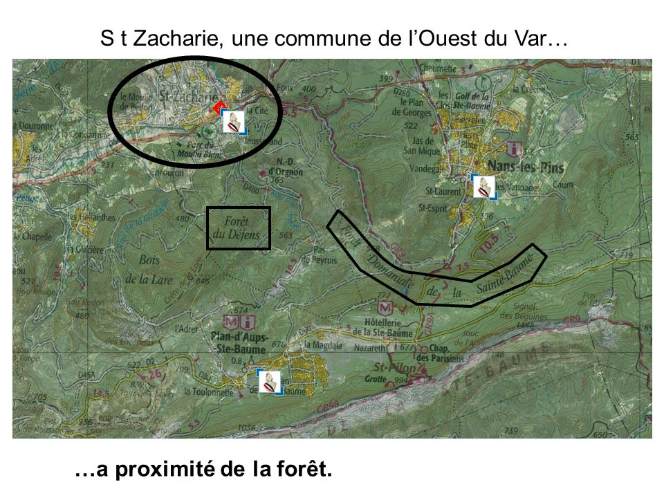 S t Zacharie, une commune de l'Ouest du Var…