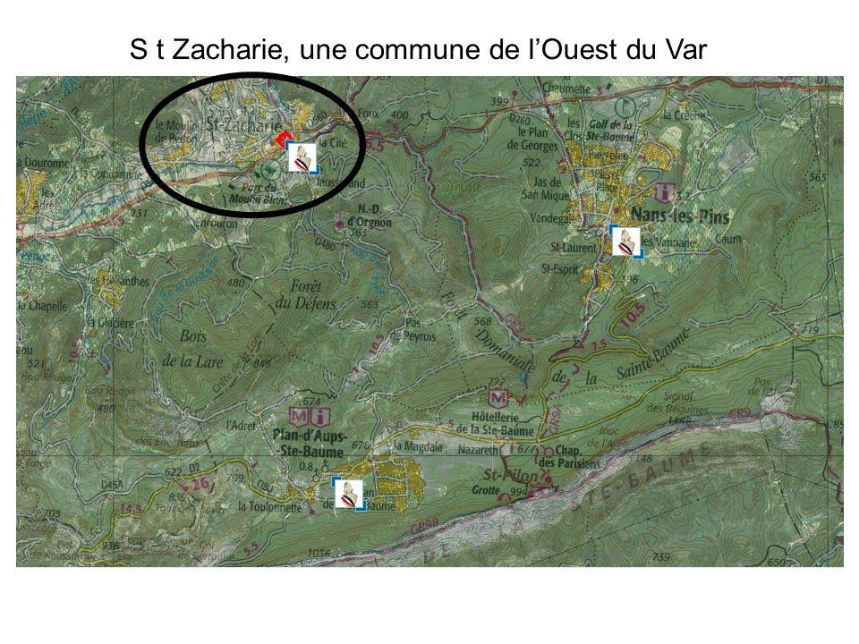 S t Zacharie, une commune de l'Ouest du Var