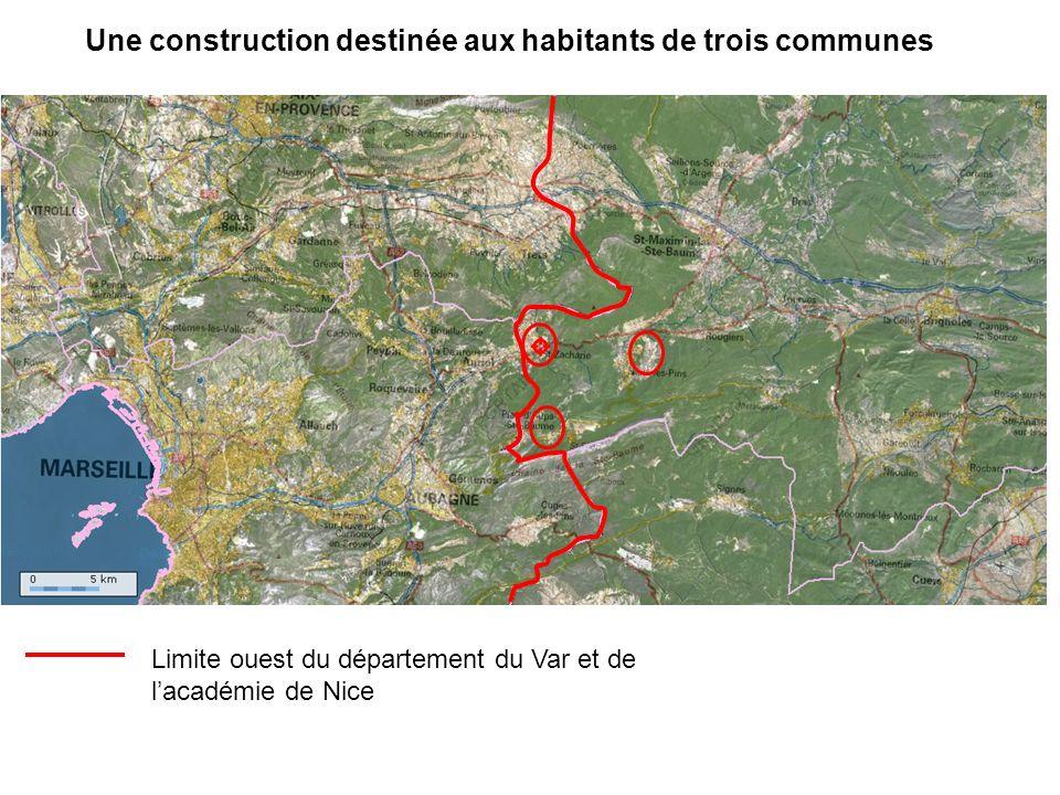 Une construction destinée aux habitants de trois communes