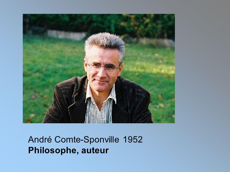 André Comte-Sponville 1952