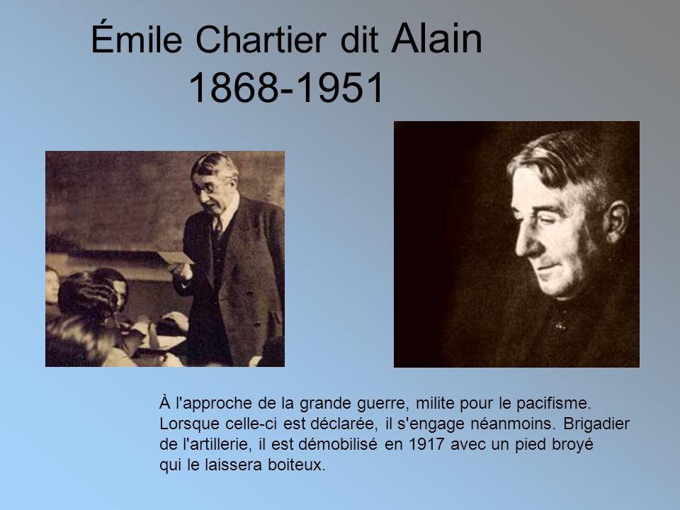 Émile Chartier dit Alain 1868-1951