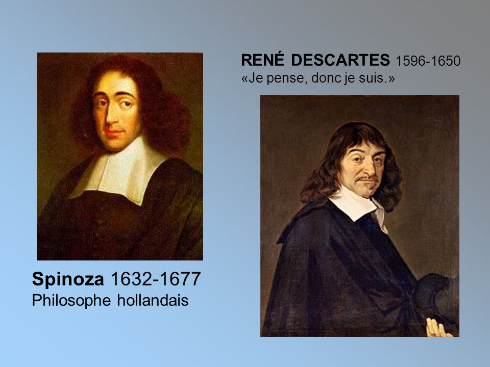 Spinoza 1632-1677 RENÉ DESCARTES 1596-1650 Philosophe hollandais