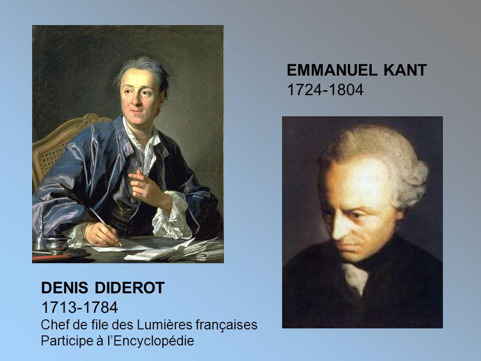 EMMANUEL KANT 1724-1804 DENIS DIDEROT 1713-1784
