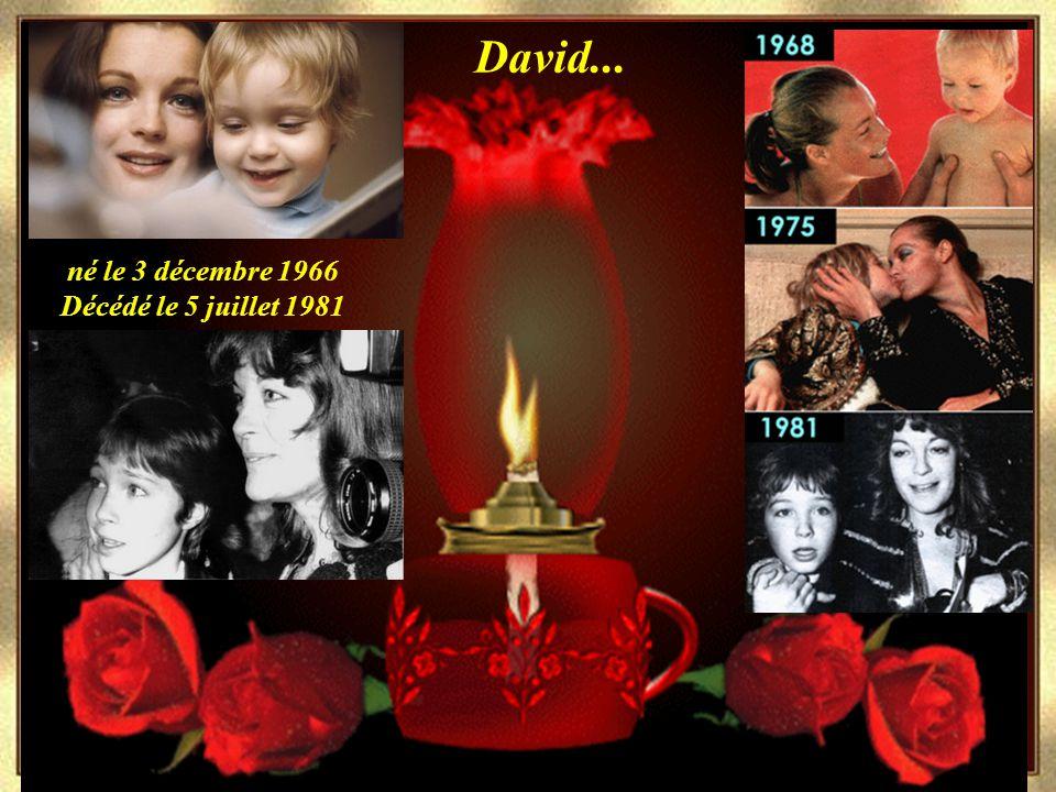 1982 David... né le 3 décembre 1966 Décédé le 5 juillet 1981