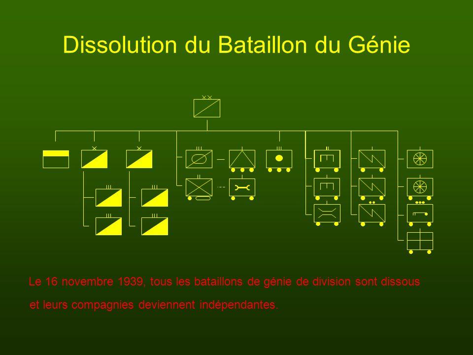 Dissolution du Bataillon du Génie