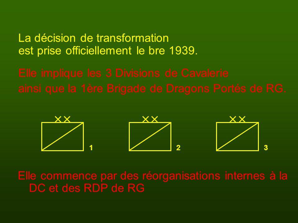 La décision de transformation est prise officiellement le bre 1939.