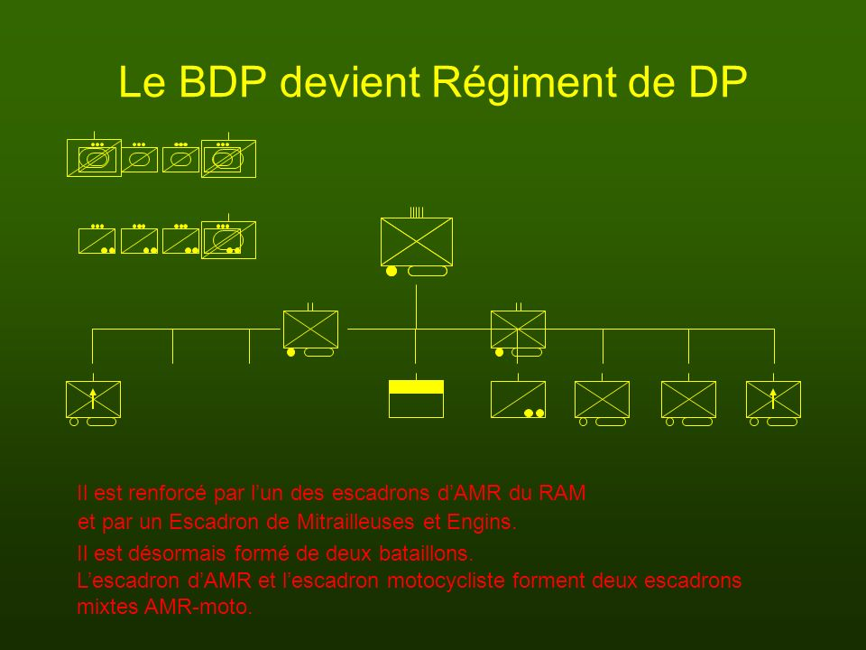 Le BDP devient Régiment de DP