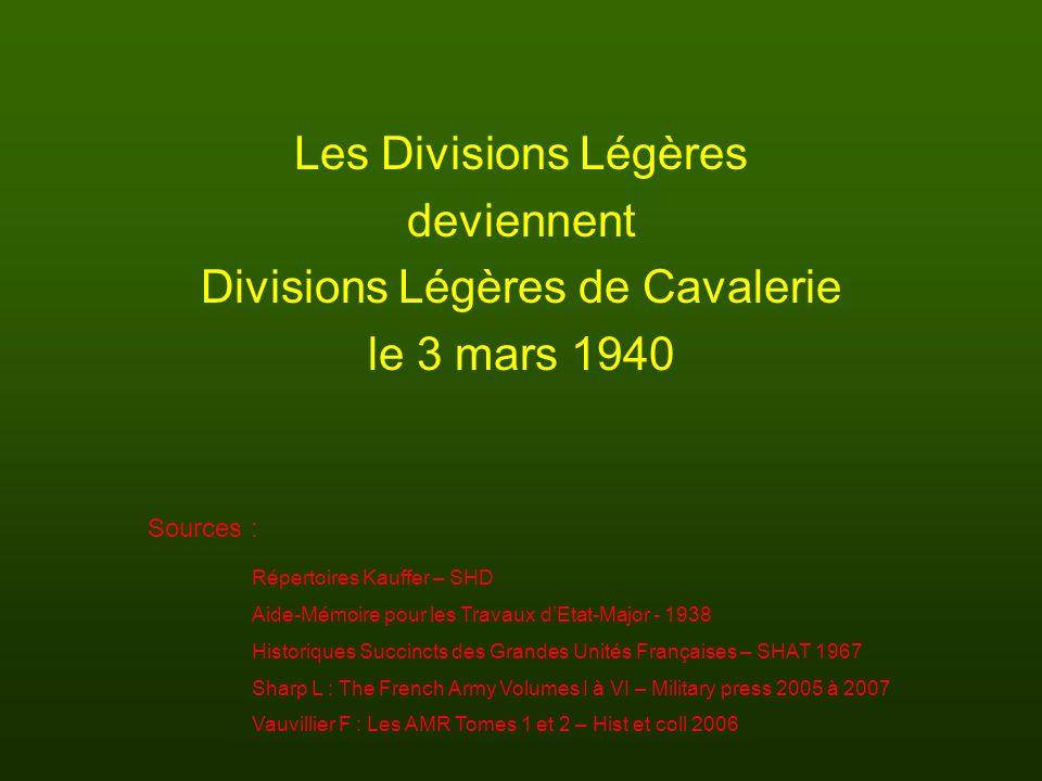 Divisions Légères de Cavalerie