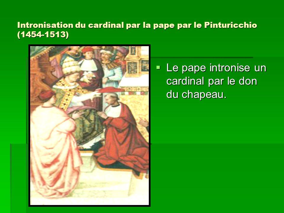 Intronisation du cardinal par la pape par le Pinturicchio (1454-1513)
