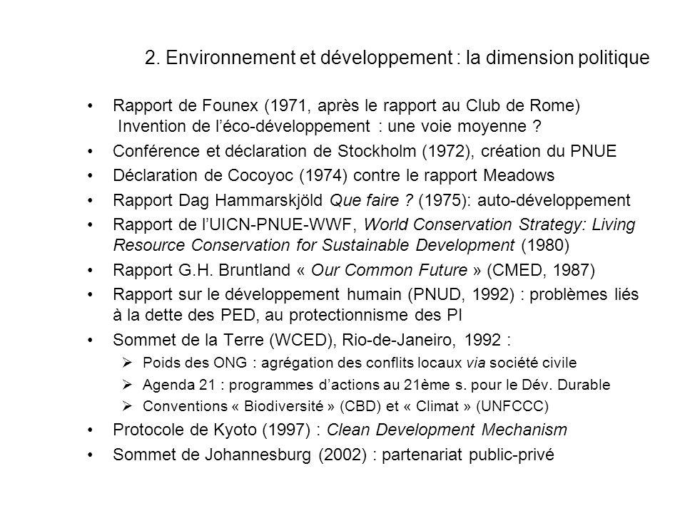 2. Environnement et développement : la dimension politique