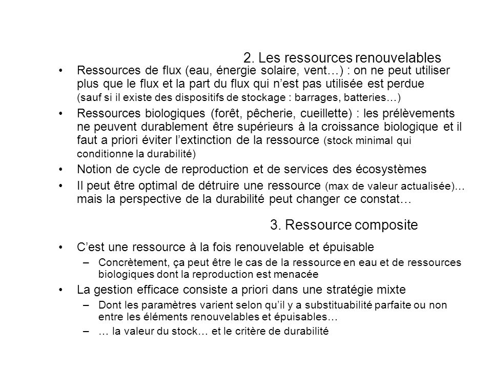 2. Les ressources renouvelables