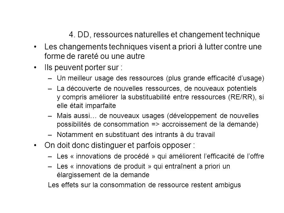4. DD, ressources naturelles et changement technique