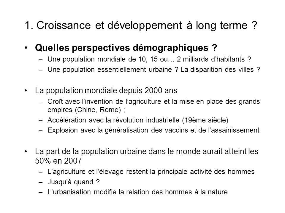 1. Croissance et développement à long terme