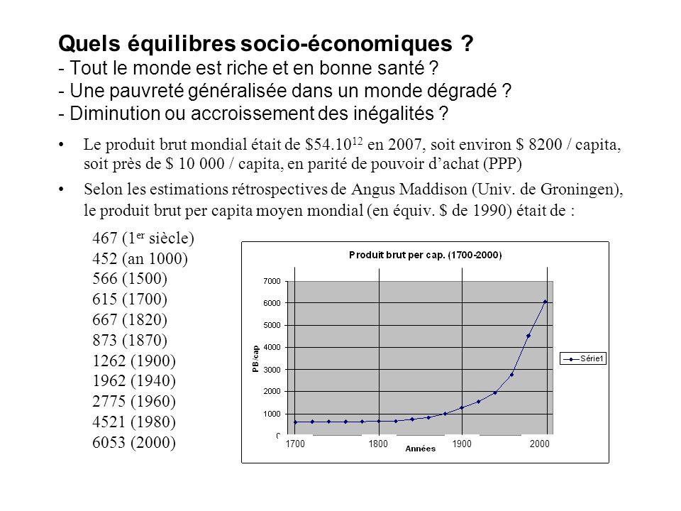 Quels équilibres socio-économiques