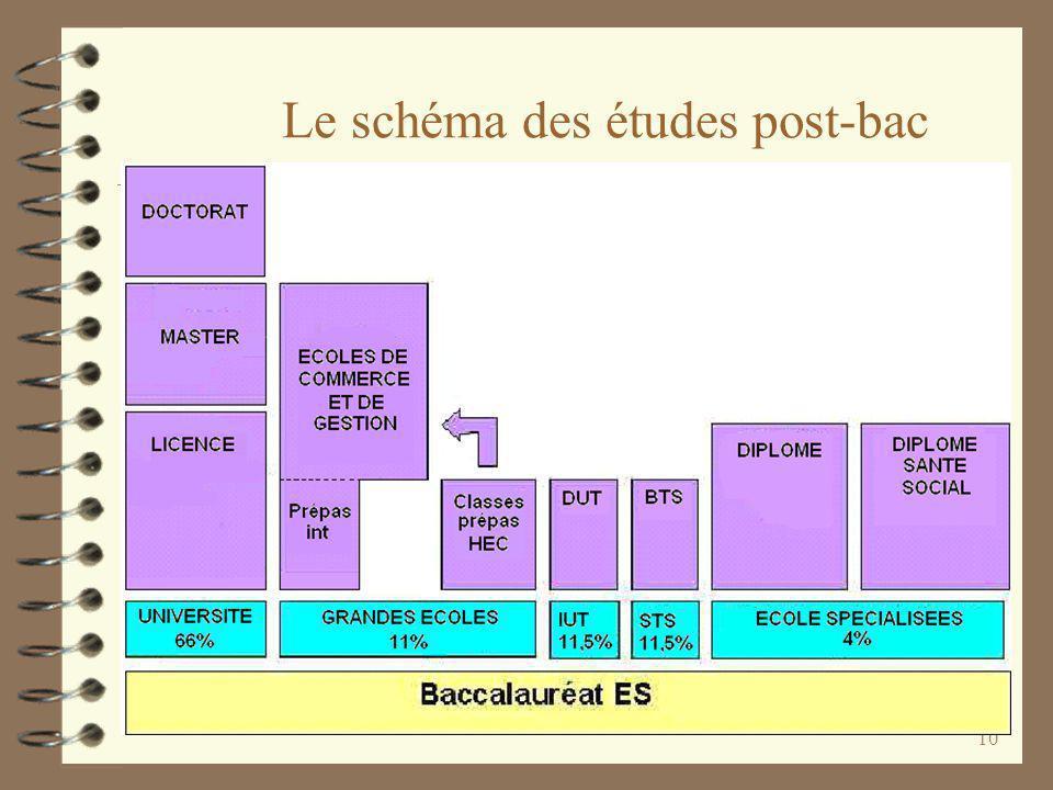 Le schéma des études post-bac