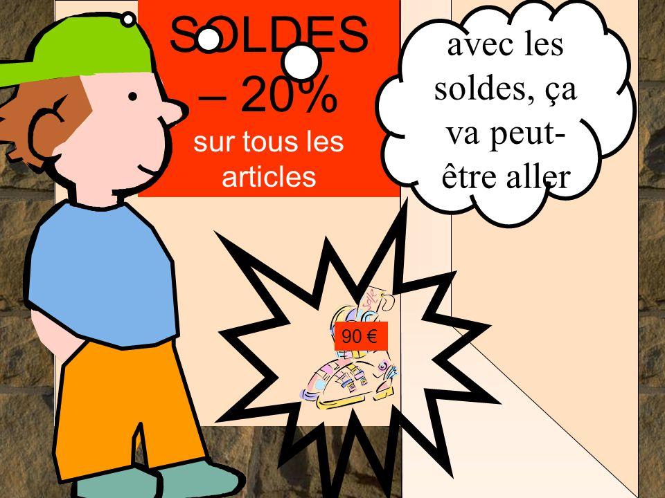 . . . . SOLDES – 20% sur tous les articles