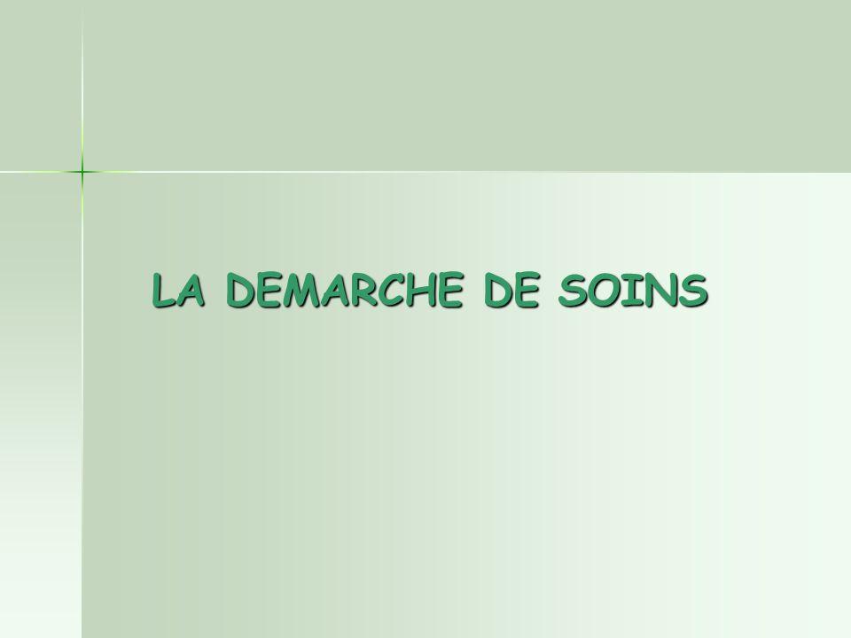 LA DEMARCHE DE SOINS
