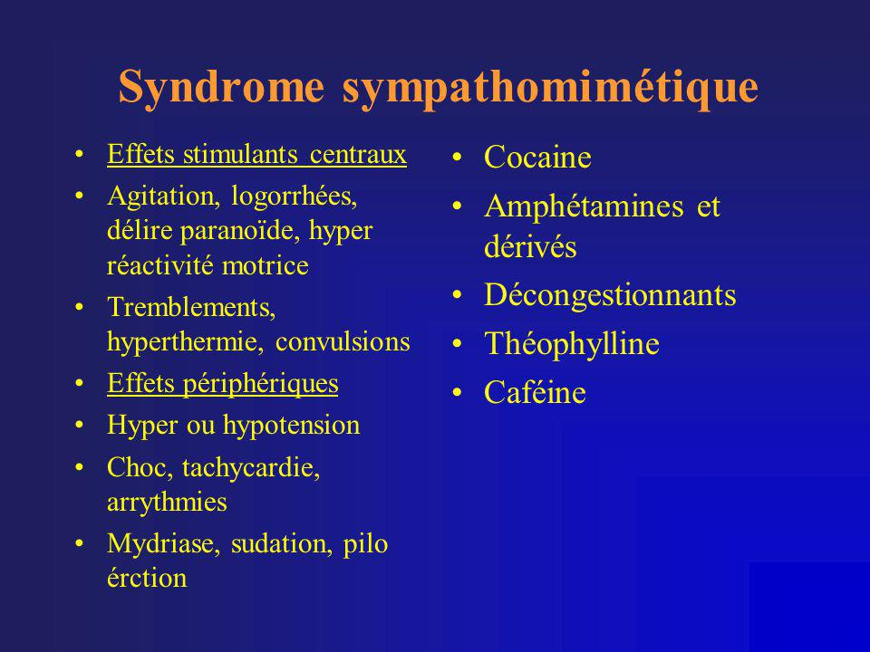 Syndrome sympathomimétique