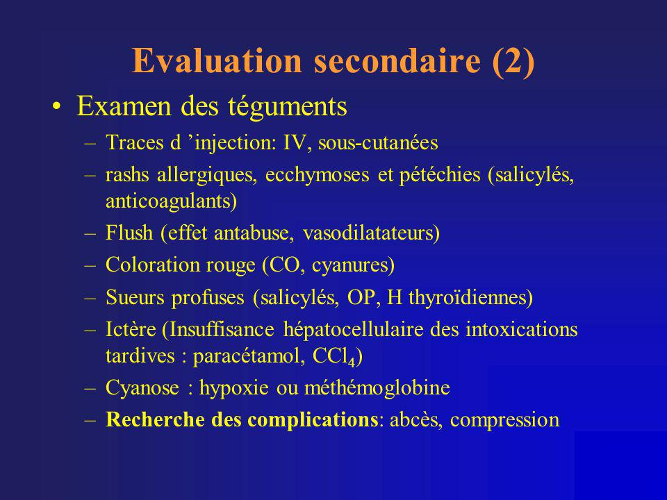 Evaluation secondaire (2)