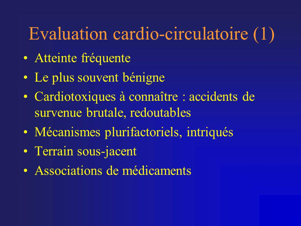 Evaluation cardio-circulatoire (1)