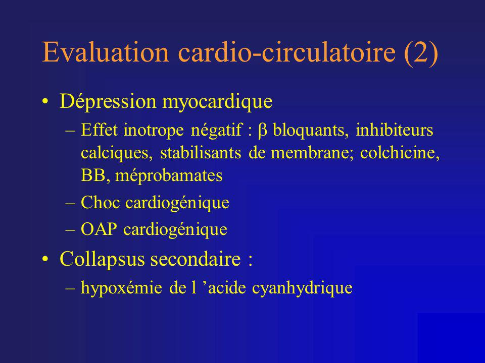 Evaluation cardio-circulatoire (2)