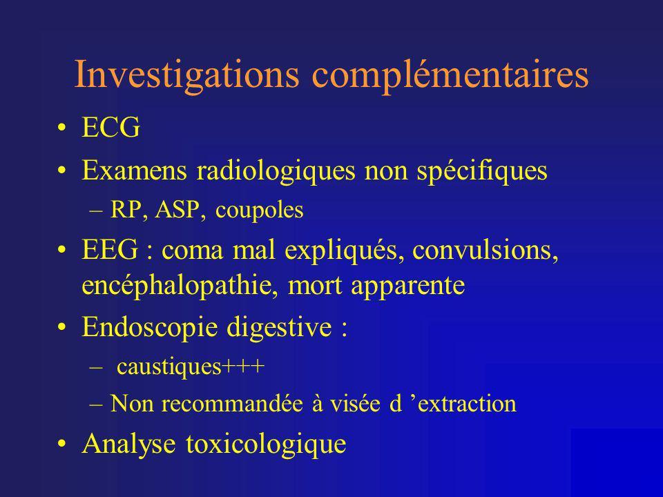 Investigations complémentaires