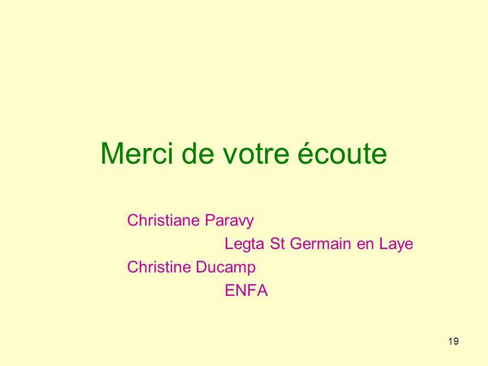 Christiane Paravy Legta St Germain en Laye Christine Ducamp ENFA