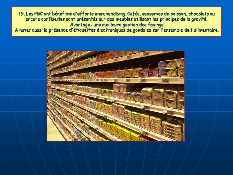 19. Les PGC ont bénéficié d efforts merchandising