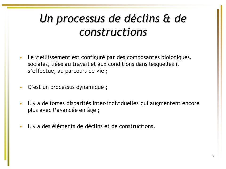 Un processus de déclins & de constructions