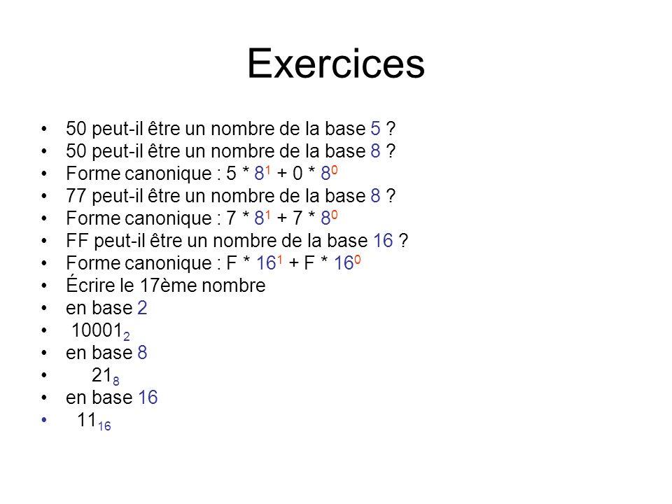 Exercices 50 peut-il être un nombre de la base 5
