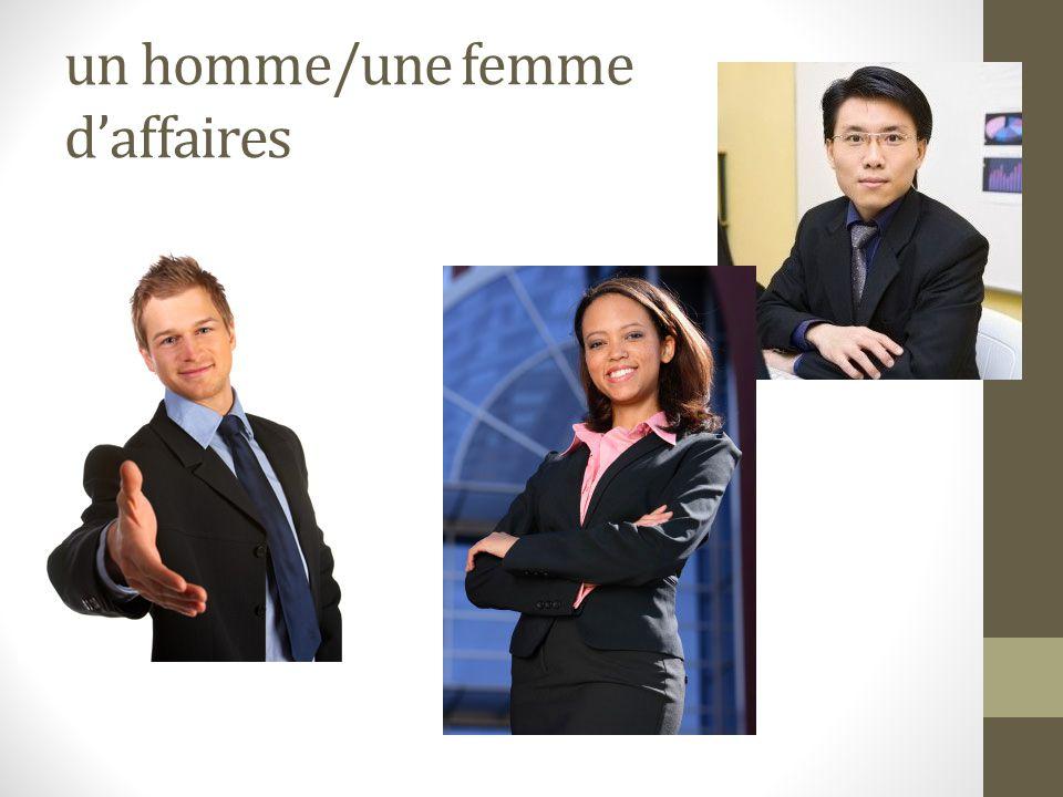 un homme/une femme d'affaires