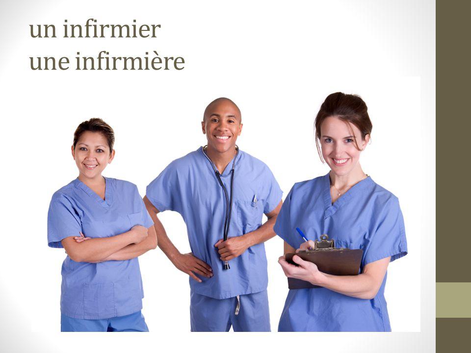 un infirmier une infirmière