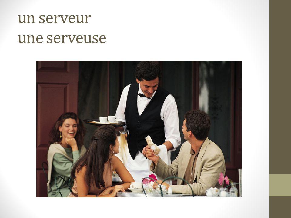 un serveur une serveuse