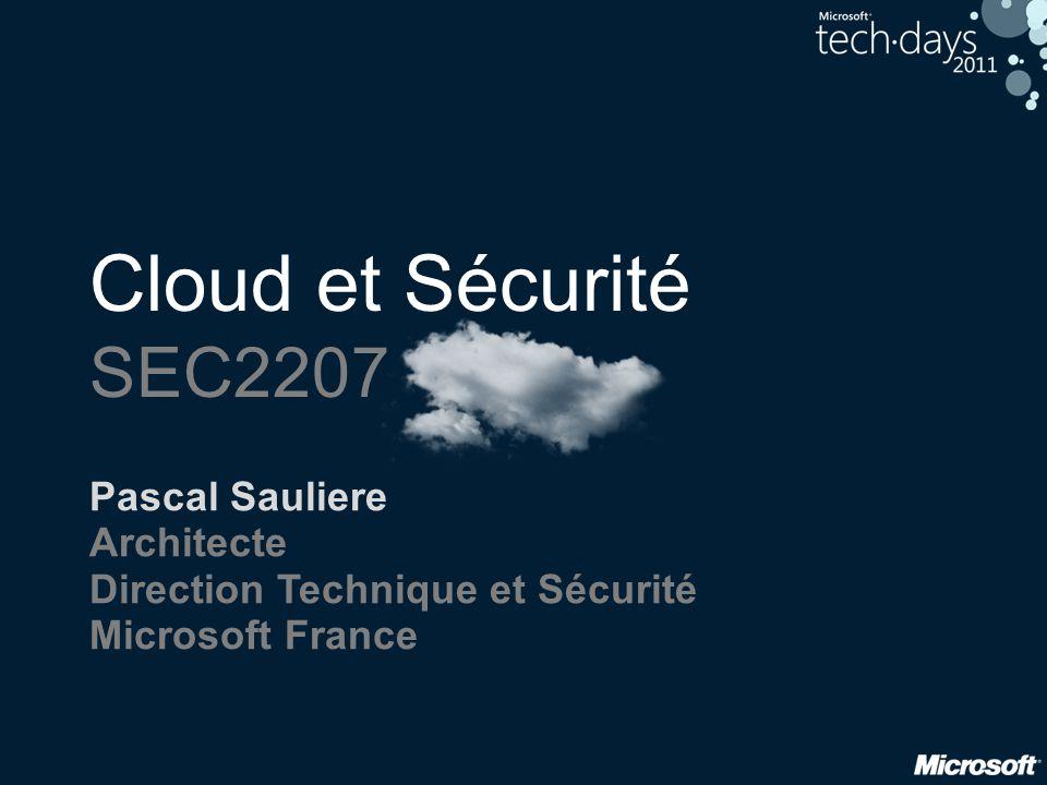 Cloud et Sécurité SEC2207 Pascal Sauliere Architecte