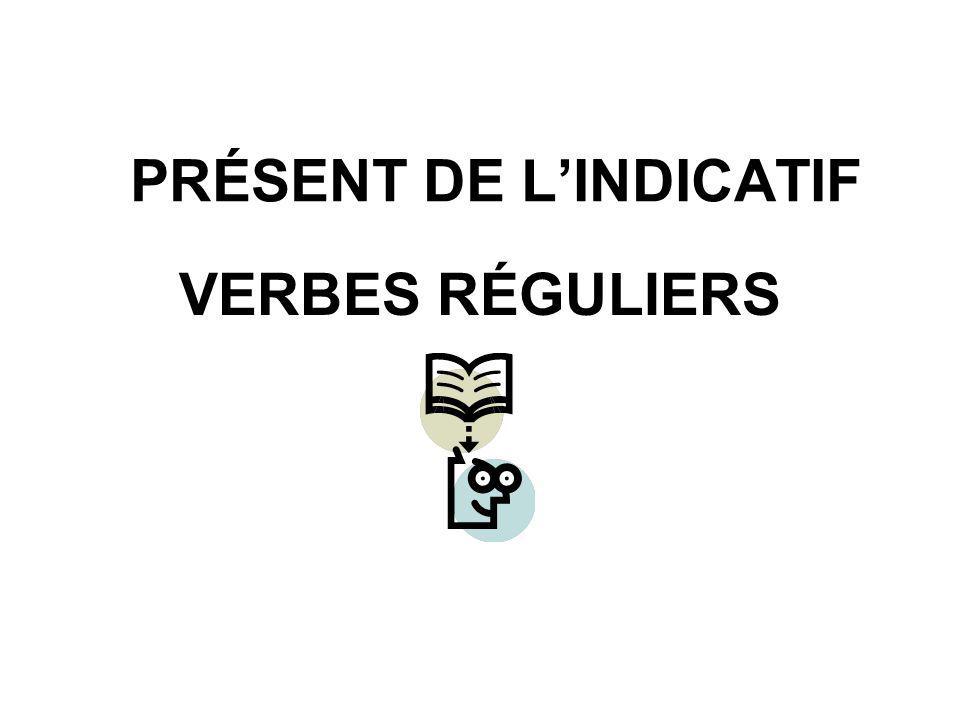 PRÉSENT DE L'INDICATIF