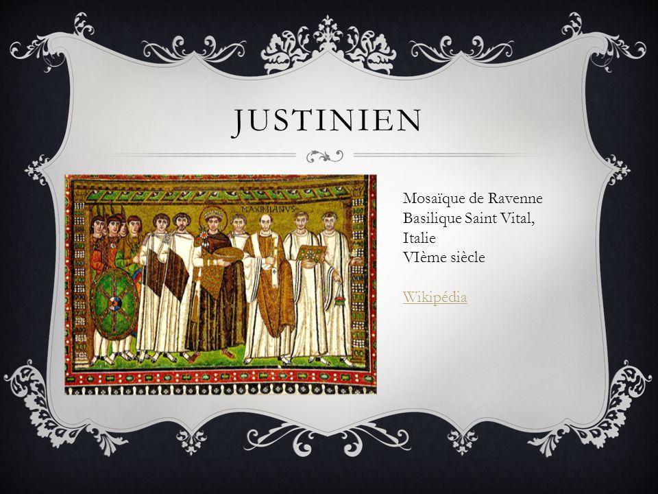 Justinien Mosaïque de Ravenne Basilique Saint Vital, Italie