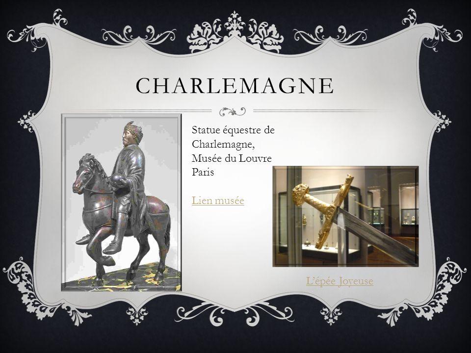 Charlemagne Statue équestre de Charlemagne, Musée du Louvre Paris