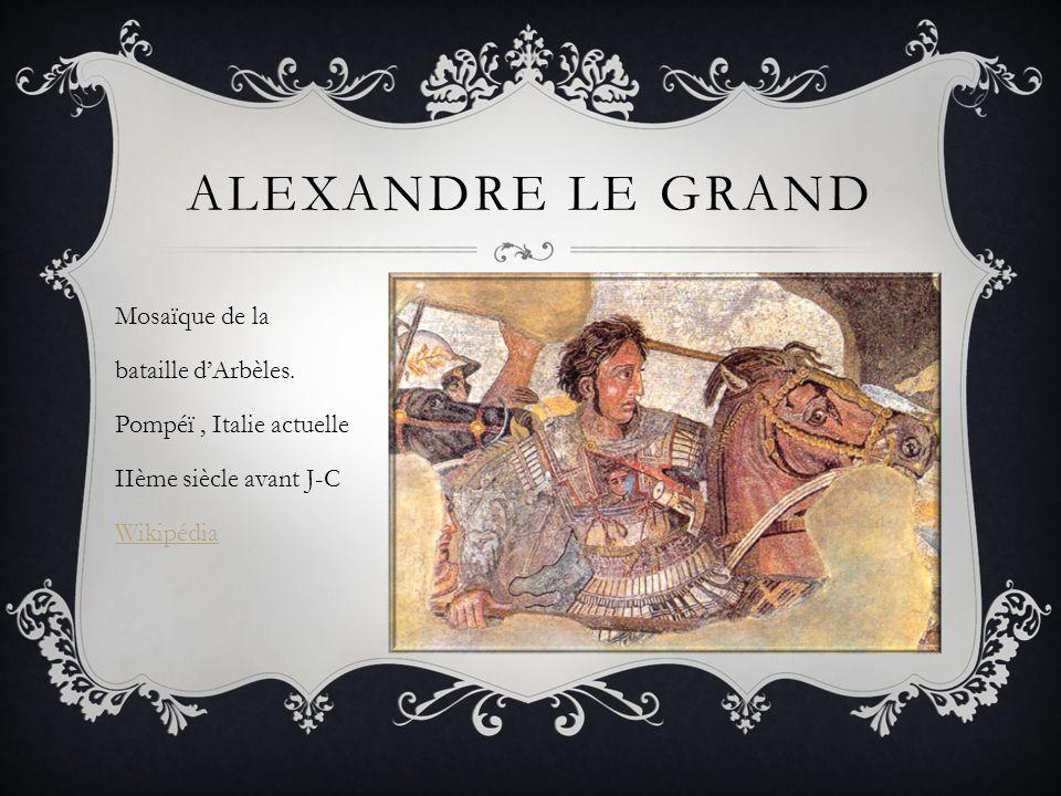 Alexandre le grand Mosaïque de la bataille d'Arbèles.