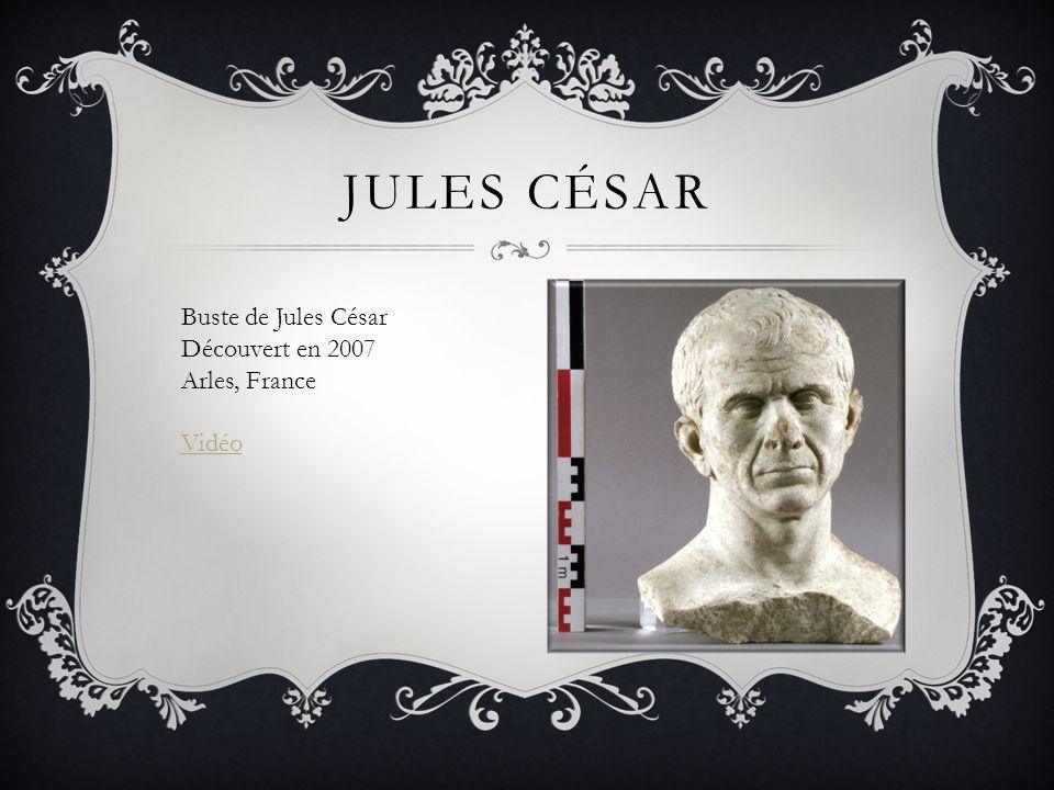 Jules césar Buste de Jules César Découvert en 2007 Arles, France Vidéo