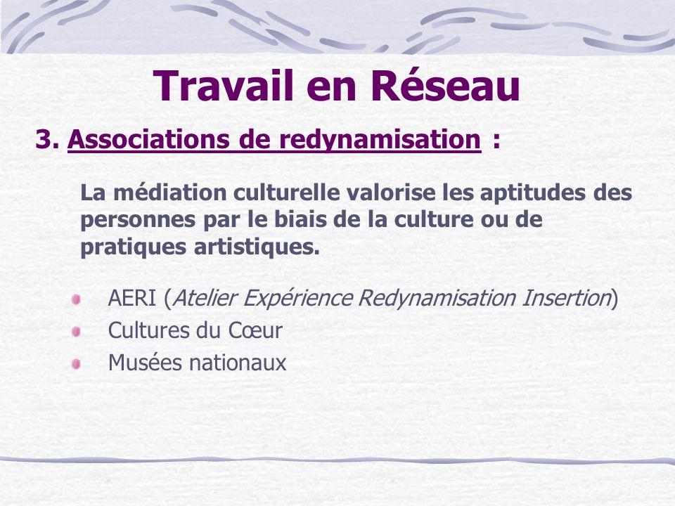 Travail en Réseau 3. Associations de redynamisation :