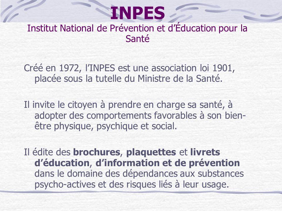 INPES Institut National de Prévention et d'Éducation pour la Santé