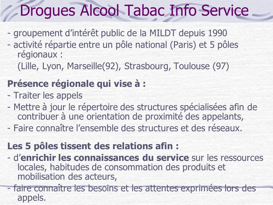 Drogues Alcool Tabac Info Service